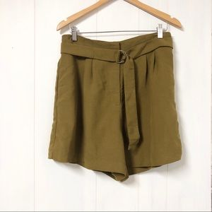H&M Dark Mustard High Waist Shorts